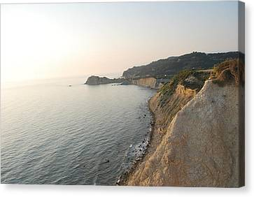 Canvas Print featuring the photograph Sunset Gourna by George Katechis