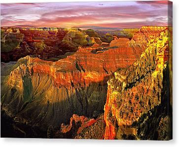Nadine Canvas Print - Sunset Grand Canyon Arizona by Bob and Nadine Johnston