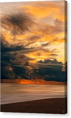 China Beach Canvas Print - Sunset Grandeur by Lourry Legarde