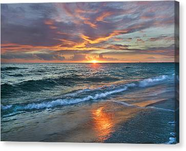 Resource Canvas Print - Sunset Gulf Islands National Seashore by Tim Fitzharris
