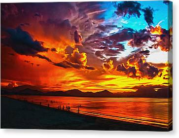 Sunset Happiness Canvas Print