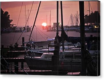 Sunset Harbor Canvas Print by Kelly Reber