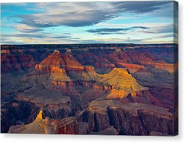 Sunset, Hopi Point, South Rim, Grand Canvas Print by Michel Hersen