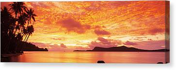 Sunset, Huahine Island, Tahiti Canvas Print by Panoramic Images