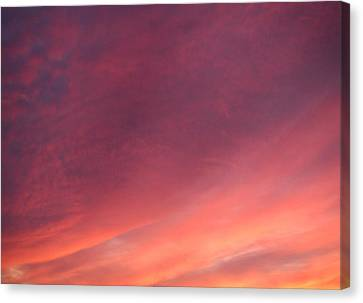 Canvas Print featuring the photograph Sunset Hues by Laurie Stewart