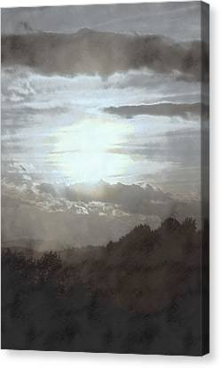 Canvas Print featuring the photograph Sunset Impressions Over The Blue Ridge Mountains by Photographic Arts And Design Studio