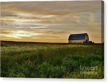 Sunset In Aroostook County Canvas Print by Christopher Mace