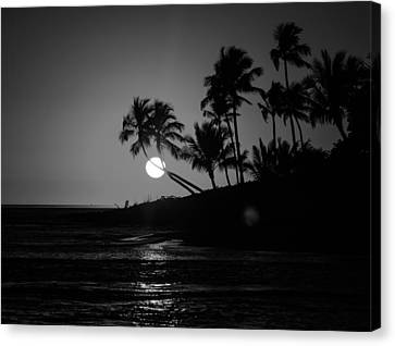 Sunset In Black And White Canvas Print