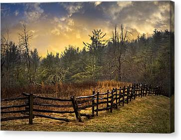 Sunset In Blue Ridge Canvas Print