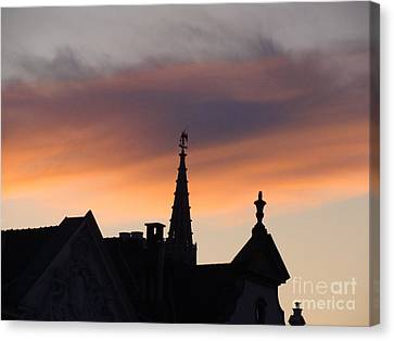 Sunset In Brussels Canvas Print