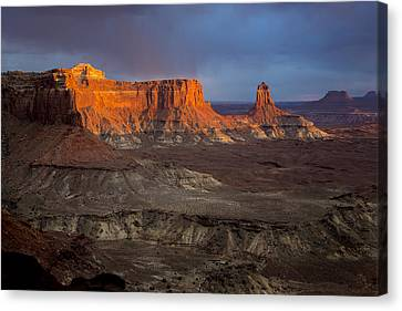 Sunset In Canyonlands Canvas Print