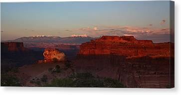 Sunset In Canyonlands National Park Canvas Print