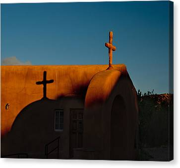 Sunset In Chimayo Nm Canvas Print by Julie VanDore