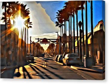 Sunset In Daytona Beach Canvas Print by Alice Gipson