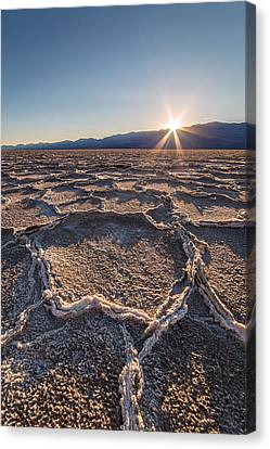 Sunset In Death Valley  Canvas Print by Pierre Leclerc Photography