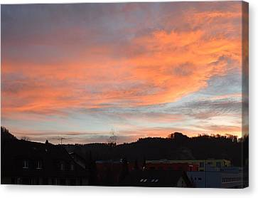 Canvas Print featuring the photograph Sunset In December by Felicia Tica