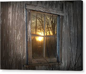 Sunset In Glass Canvas Print by Cynthia Lassiter