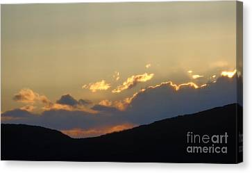 Sunset In June Canvas Print by Christina Verdgeline