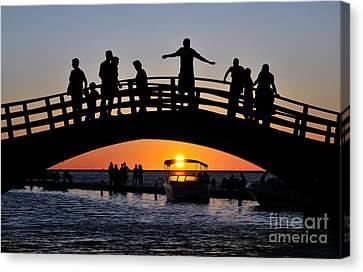 Sunset In Lefkada Island Canvas Print by George Atsametakis