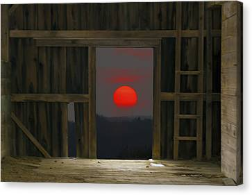Sunset In Leraysville Canvas Print by David Simons