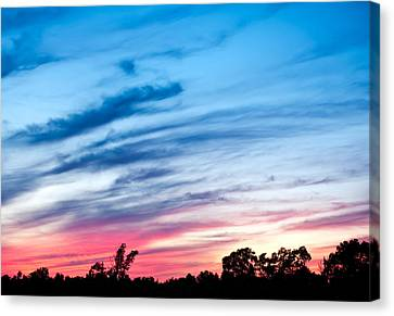 Sunset In Ontario Canada Canvas Print by Marek Poplawski