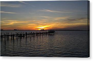 Sunset In Paradise Canvas Print by Kenny Cannon