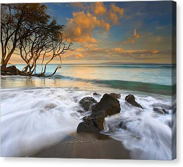 Sunset In Paradise Canvas Print by Mike  Dawson