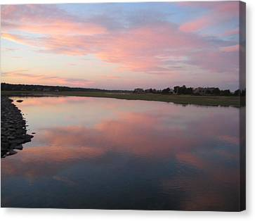 Sunset In Pink And Blue Canvas Print