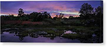 Sunset In Purple Along Highway 7 Canvas Print by Peter v Quenter