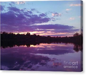 Sunset In Purple Canvas Print by R McLellan