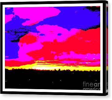 Sunset In Red Blue Yellow Pink Canvas Print by Roberto Gagliardi
