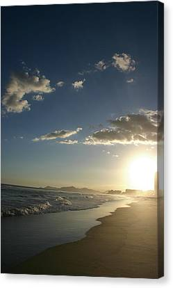 Sunset In Rio Canvas Print by Frederico Borges