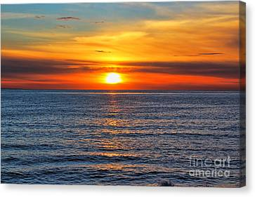 Sunset In San Clemente Canvas Print by Mariola Bitner