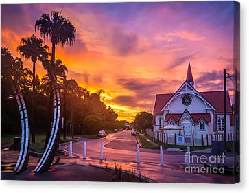 Canvas Print featuring the photograph Sunset In Sandgate by Peta Thames