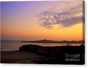 Sunset In Santa Cruz California  Canvas Print by Garnett  Jaeger