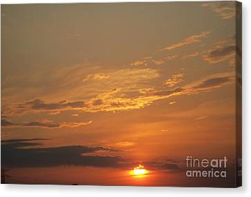 Canvas Print featuring the photograph Sunset In St. Peters by Kelly Awad