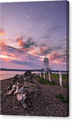 Sunset In Tacoma Canvas Print by Ryan Manuel