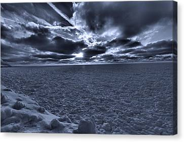 Sunset In The Arctic Canvas Print by Dan Sproul