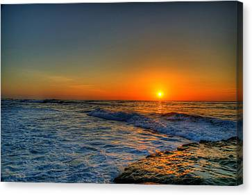 Sunset In The Cove Canvas Print