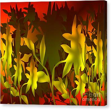 Sunset In The Jungle Canvas Print by Gayle Price Thomas