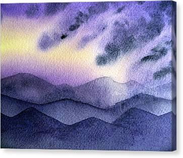 Sunset In The Mountains Canvas Print by Irina Sztukowski