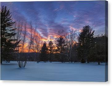 Sunset In The Park Canvas Print by Bill Wakeley
