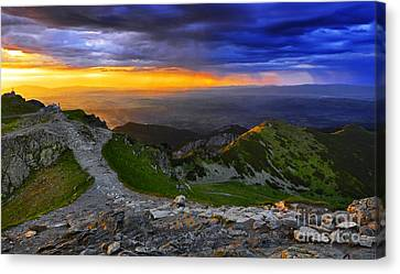 Sunset In The Tatras I Canvas Print