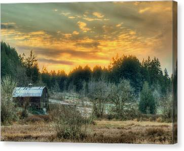 Sunset In The Valley Canvas Print by Jeff Cook