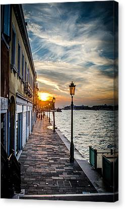 Sunset In Venice Canvas Print by Stefan Hoareau