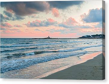Sunset In Vilanova I La Geltru Near Barcelona Spain Canvas Print by Marek Poplawski