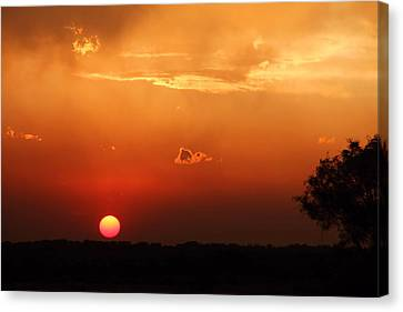Sunset In West Texas Canvas Print by Elizabeth Budd