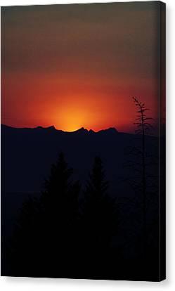 Sunset Canvas Print by Janie Johnson