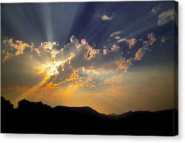 Canvas Print featuring the photograph Sunset by Jim Snyder