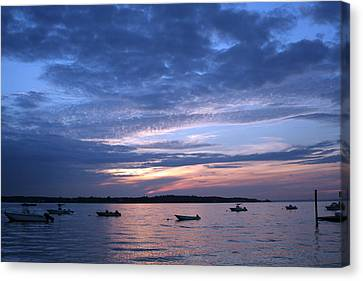 Canvas Print featuring the photograph Sunset by Karen Silvestri